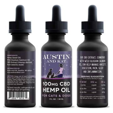 Austin and Kat 100mg CBD Hemp & Wild Salmon Oil for Dogs and Cats
