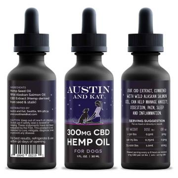 Austin and Kat 300 mg CBD Hemp & Wild Salmon Oil for Dogs