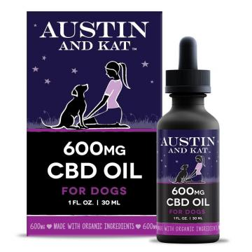 Austin and Kat 600mg CBD Hemp & Wild Salmon Oil for Dogs