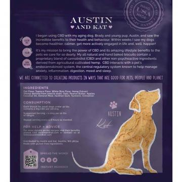 Austin and Kat CBD Biscuits 2mg for Small Dogs