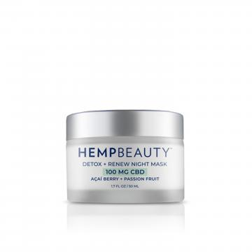 Hemp Beauty Detox + Renew Night Mask
